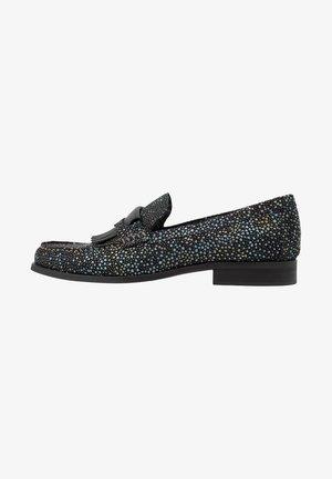 COOP FRINGE LOAFER - Slippers - black