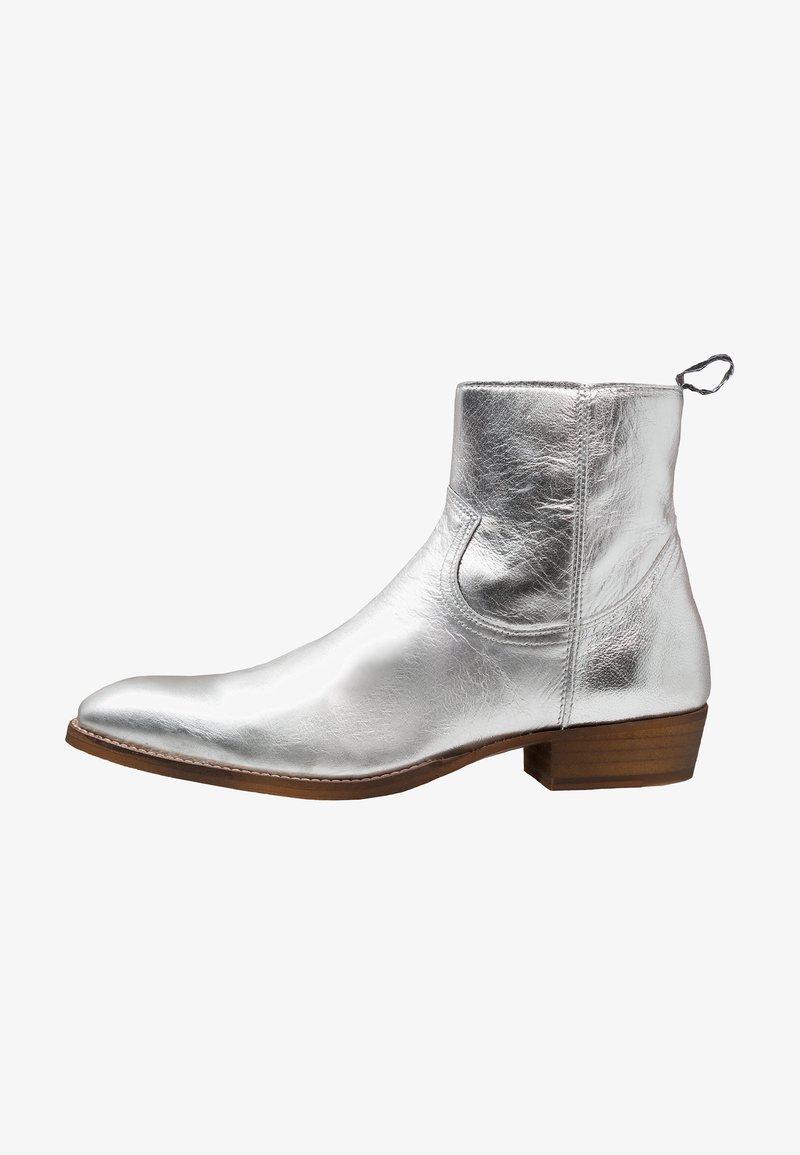 Society - YAGER ZIP BOOT - Cowboy- / bikerstøvlette - silver