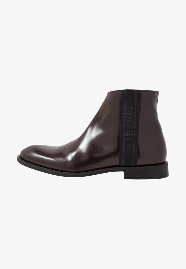 ELITE ZIP BOOT - Nilkkurit - bordo polido