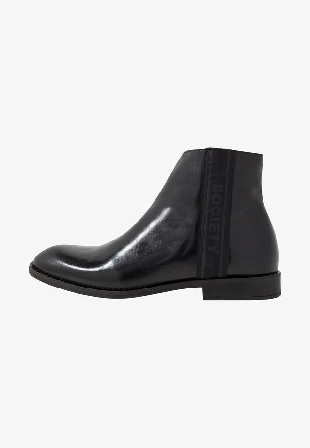 ELITE ZIP BOOT - Nilkkurit - black polido