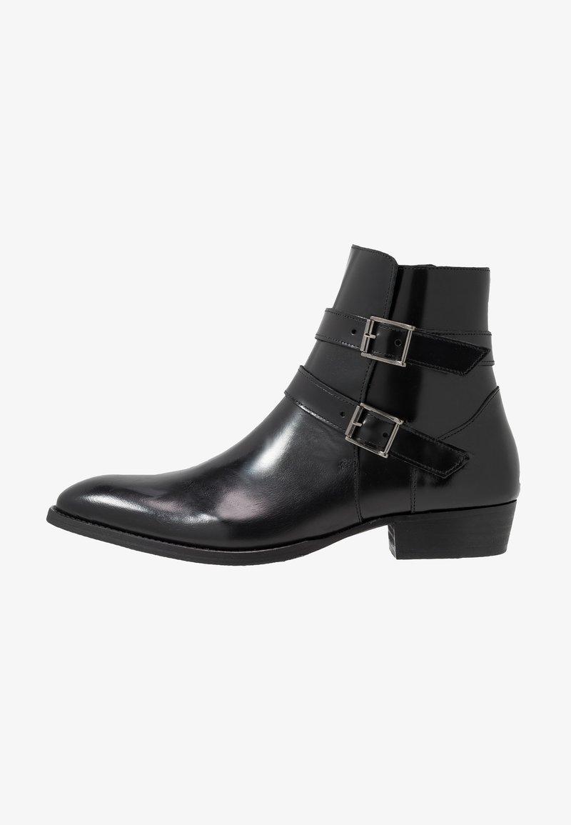Society - YUPPY ZIP BOOT - Kotníkové boty - black polido