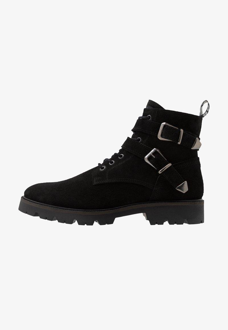 Society - RESERVE - Šněrovací kotníkové boty - black