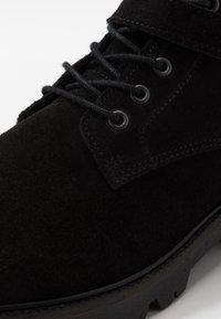 Society - RESERVE - Šněrovací kotníkové boty - black - 5