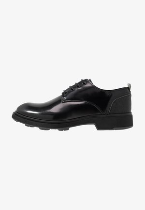 CHARLIE 4 EYE DERBY - Stringate - black polido