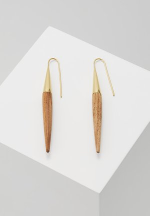 THREADERS - Earrings - gold-coloured/brown