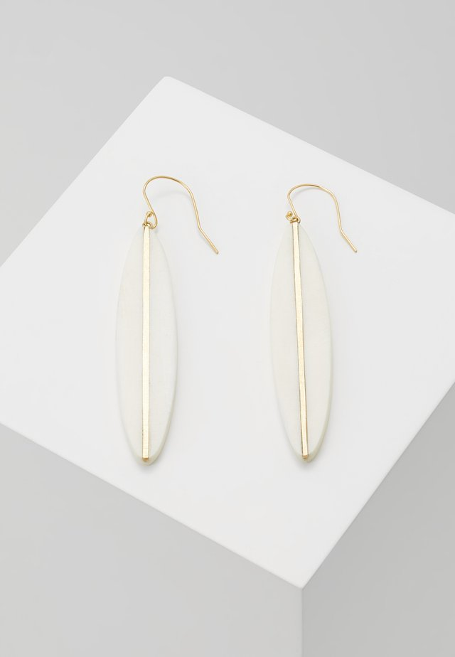 PANRA DANGLE EARRING - Náušnice - white