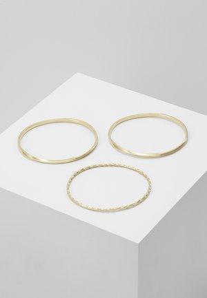 TWIST STACKED BANGLES 3 PACK - Bracelet - gold-coloured