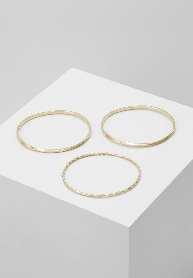 TWIST STACKED BANGLES 3 PACK - Náramek - gold-coloured