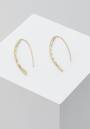 TWIST BOW EARRINGS - Øreringe - gold-coloured