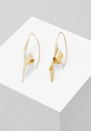 RIBBON THREADER EARRING - Korvakorut - gold-coloured