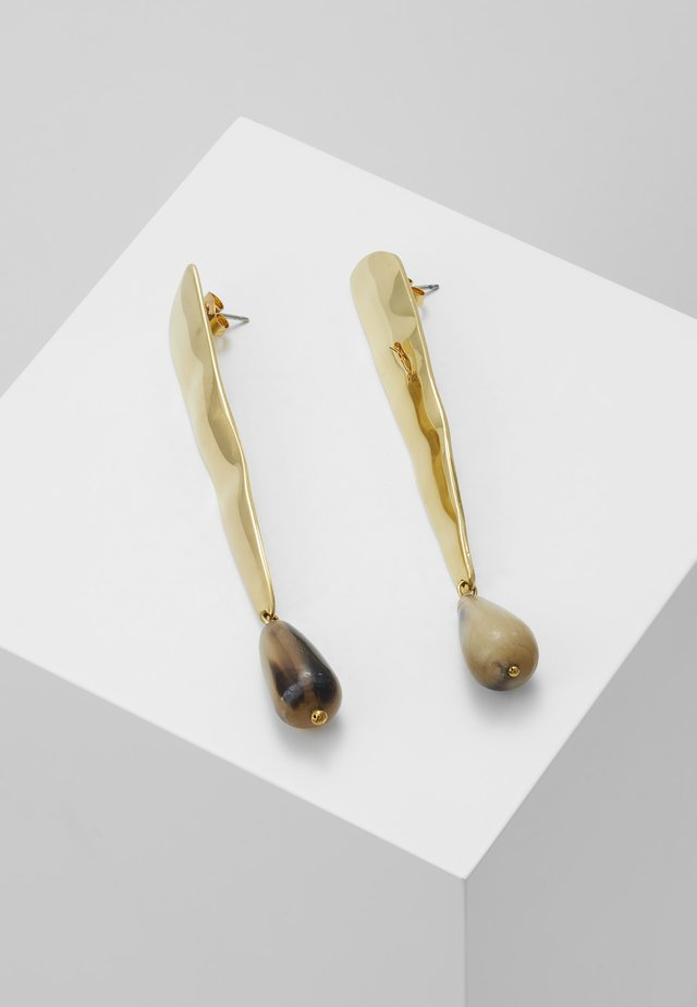 MALINDI TEARDROP EARRINGS - Ohrringe - gold-coloured/natural