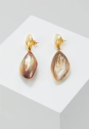 TULLA DROP EARRINGS - Örhänge - gold-coloured/brown