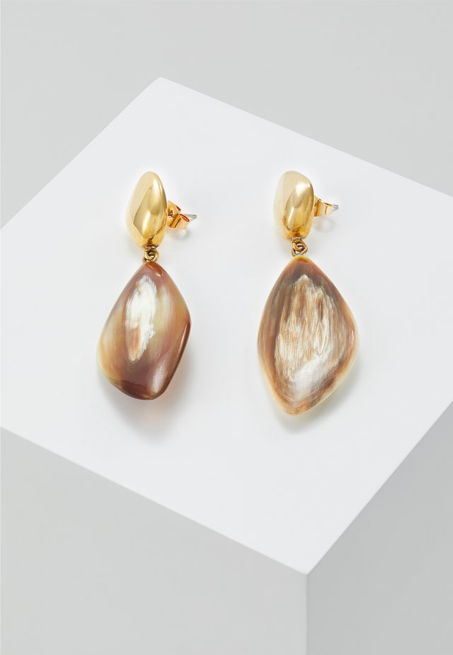 TULLA DROP EARRINGS - Náušnice - gold-coloured/brown