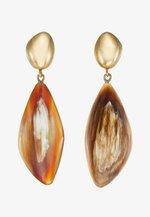 TULLA DROP EARRINGS - Korvakorut - gold-coloured/brown