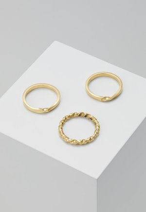 TWIST STACKED RINGS 3 PACK - Ring - gold-coloured