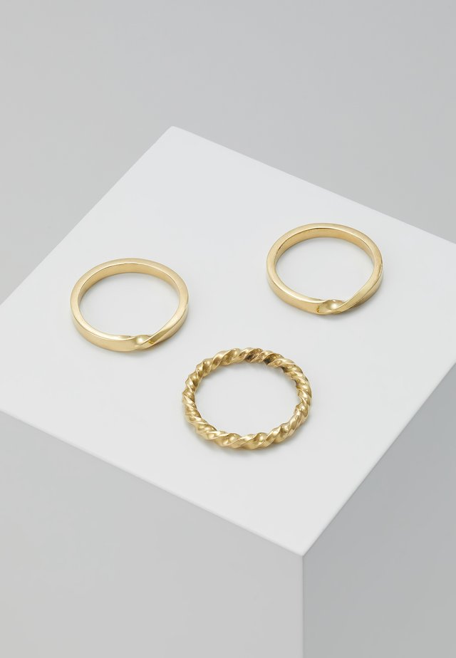 TWIST STACKED RINGS 3 PACK - Prsten - gold-coloured