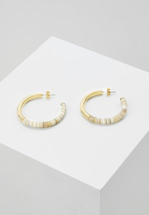 KARAMU HORN HOOP EARRINGS - Oorbellen - gold-coloured/brown