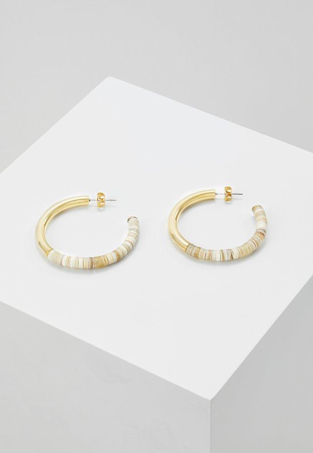 KARAMU HORN HOOP EARRINGS - Náušnice - gold-coloured/brown