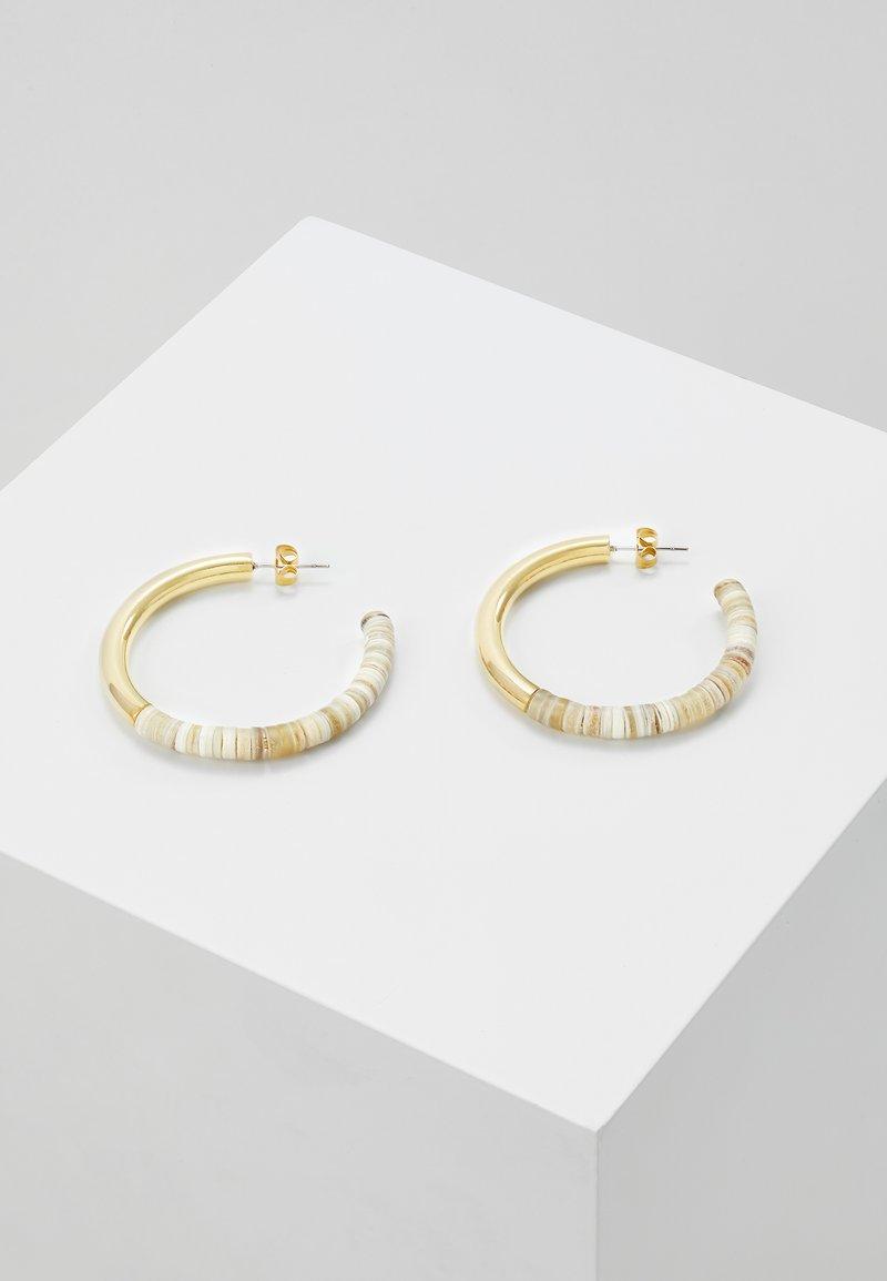Soko - KARAMU HORN HOOP EARRINGS - Øreringe - gold-coloured/brown