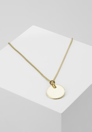 RIPPLE DISC PENDANT NECKLACE - Collier - gold-coloured