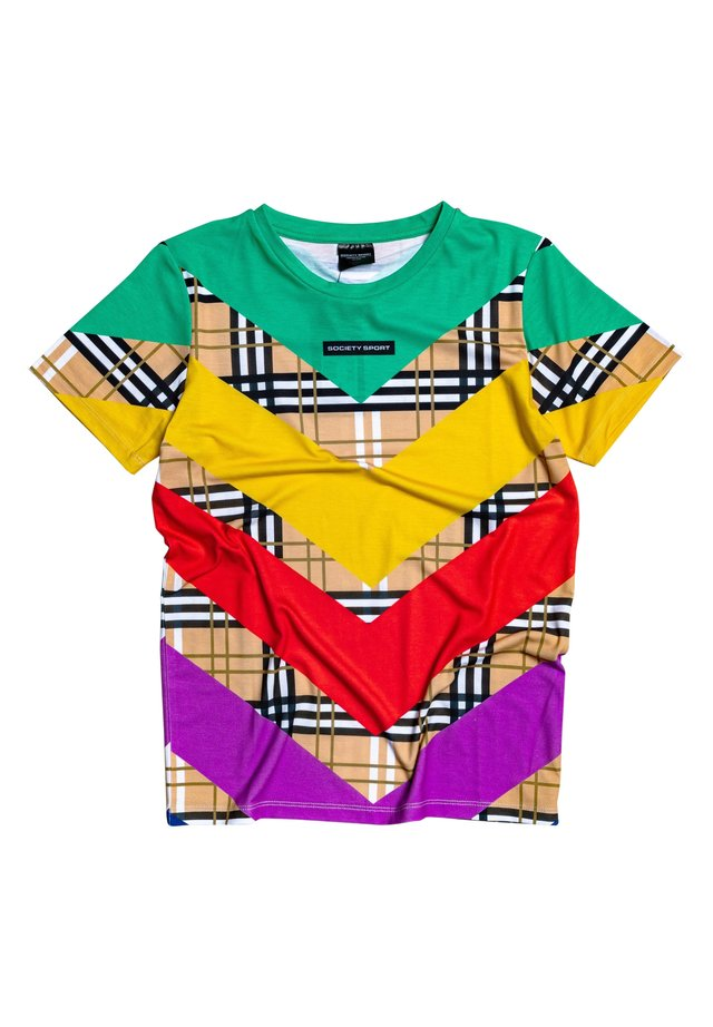 MULTI CHECK - Print T-shirt - multi