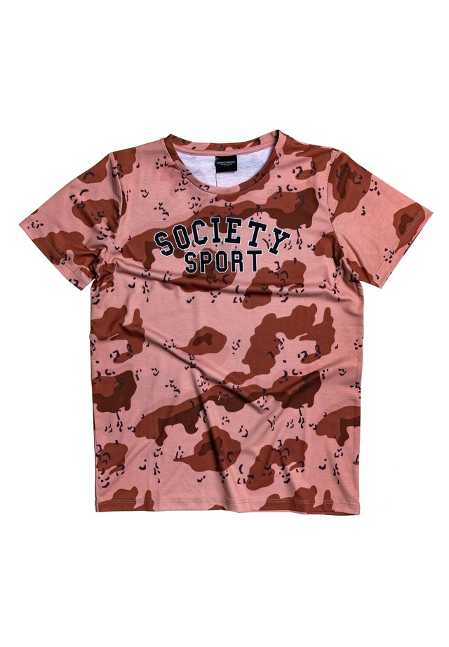 SAND CAMO - Print T-shirt - brown