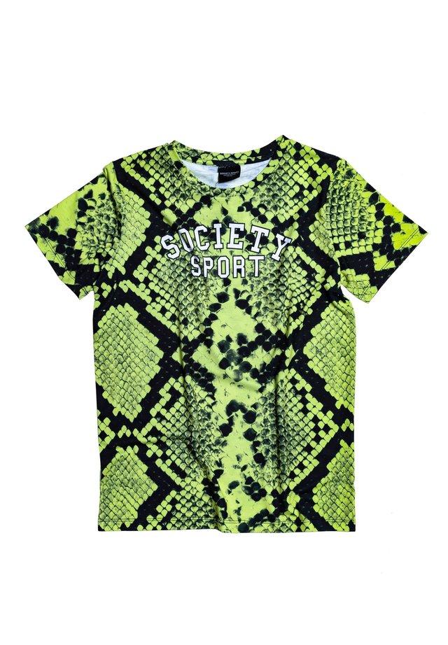 Print T-shirt - green/black