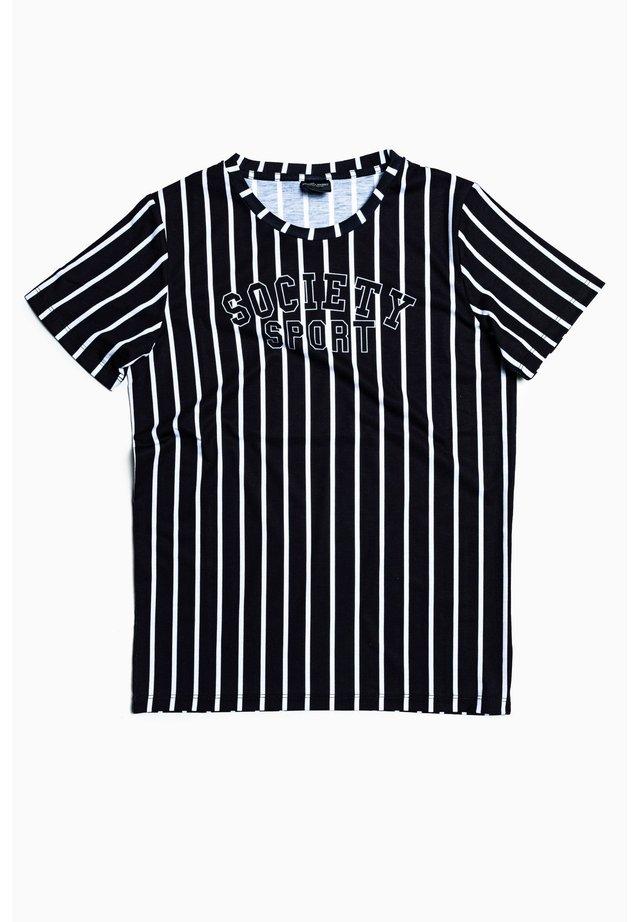 PREP STRIPE - Print T-shirt - black/white
