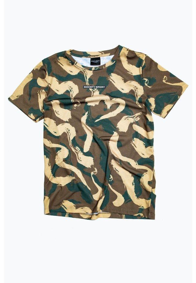 SQUIGGLE CAMO - Print T-shirt - multi