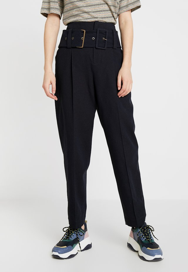 FLOW PANTALON - Trousers - navy
