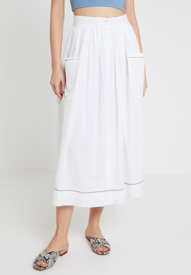 DELHI JUPE - Maxi skirt - blanc