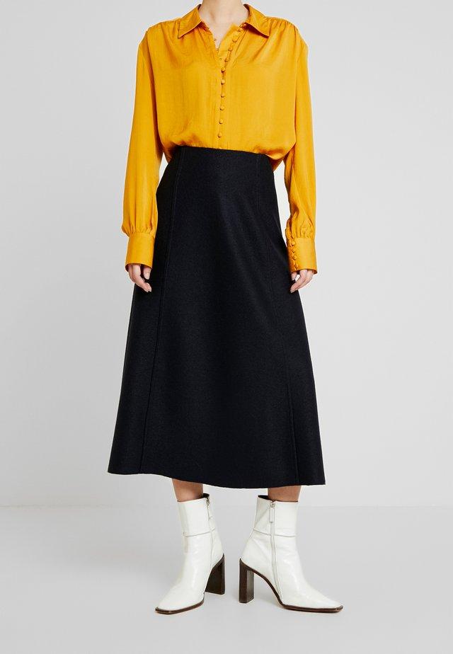 GRETTA - Áčková sukně - navy