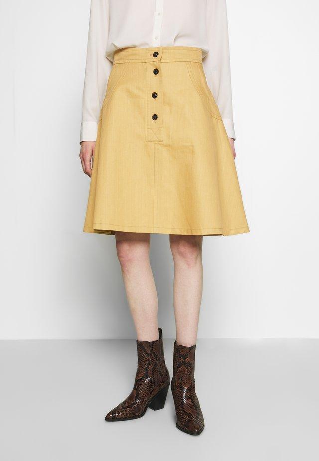JUILLET - Áčková sukně - banane