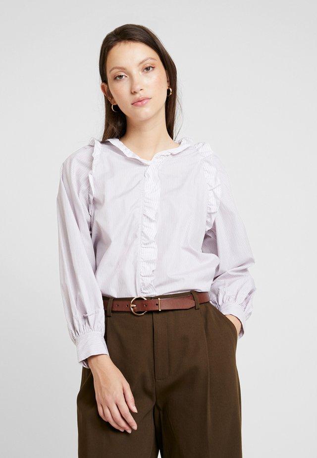 HARMONIE - Button-down blouse - violet