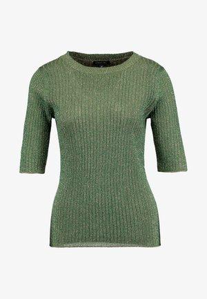 GLITTER - T-shirt imprimé - vert/gold