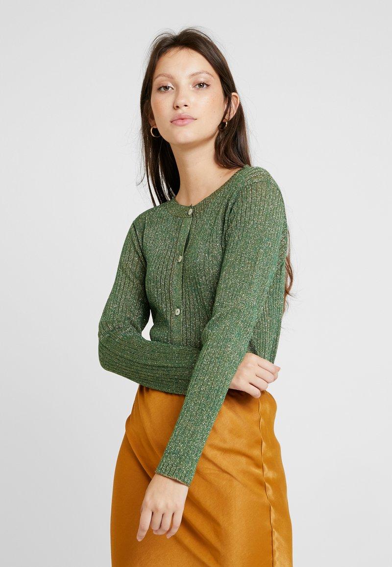 Soeur - GLAMOUR - Cardigan - vert/gold