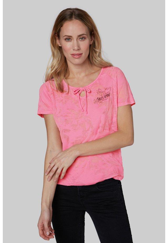 Print T-shirt - lush rose