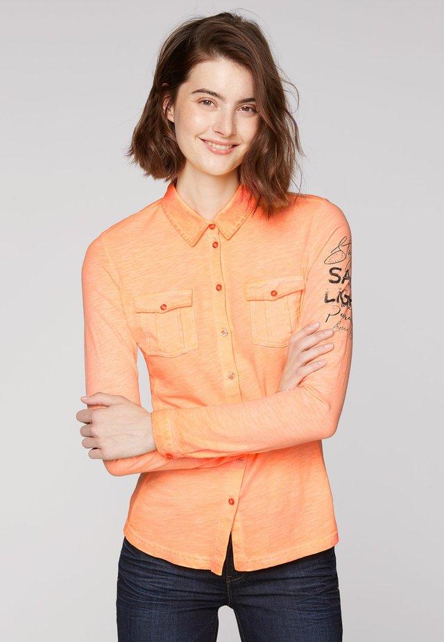 Button-down blouse - sunrise neon