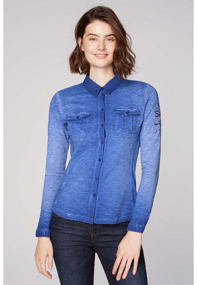 Button-down blouse - illusion blue