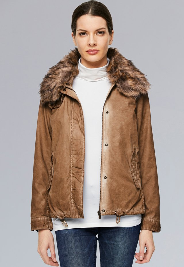 Winter jacket - golden camel