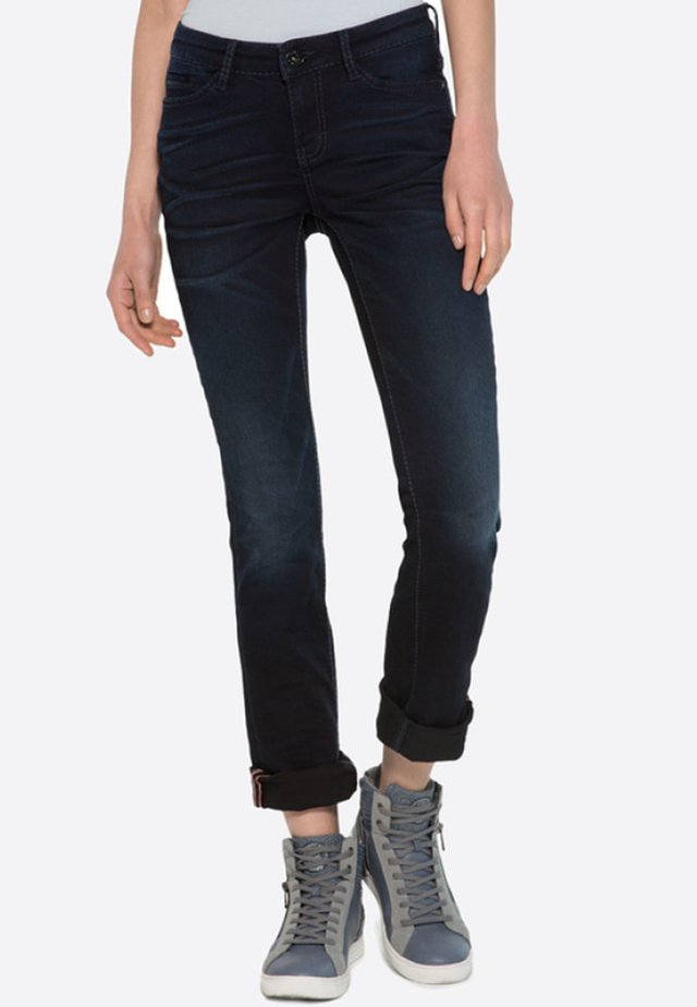 Slim fit jeans - blue black used