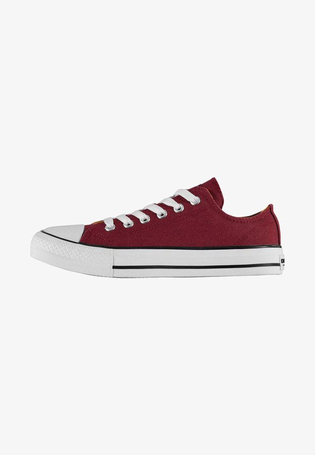 Trainers - burgunder red