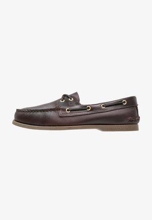 Chaussures bateau - amaretto