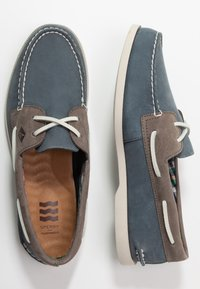 Sperry - 2-EYE PLUSH - Sejlersko - blue/grey - 1