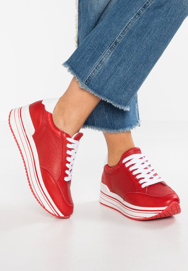 LEANRUN - Trainers - red white