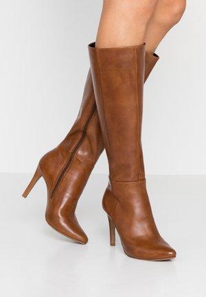 NOLITA - High heeled boots - cognac