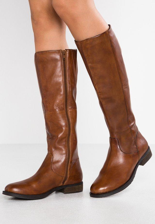 JOFFIE - Høje støvler/ Støvler - cognac