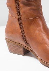 Steven New York by SPM - WRINKLESAM - Boots - cognac - 2