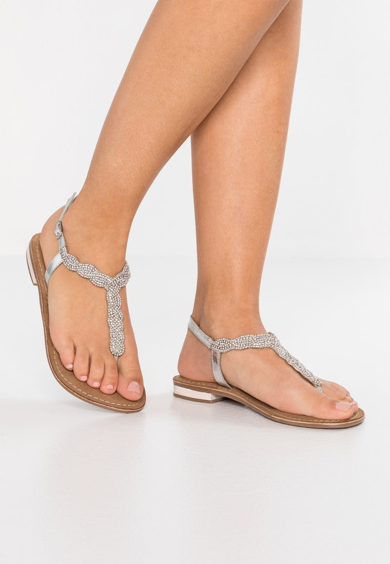 SPM - JAPURA - T-bar sandals - silver