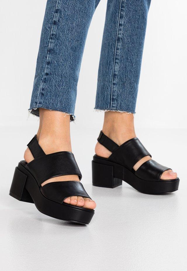 GARDA - Platform sandals - black